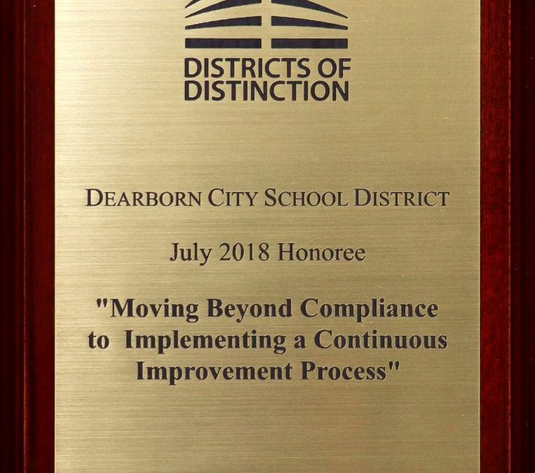 Dearborn recognized as a District of Distinction