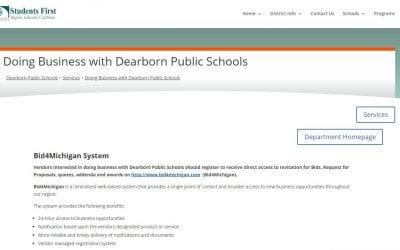 Find District bids online