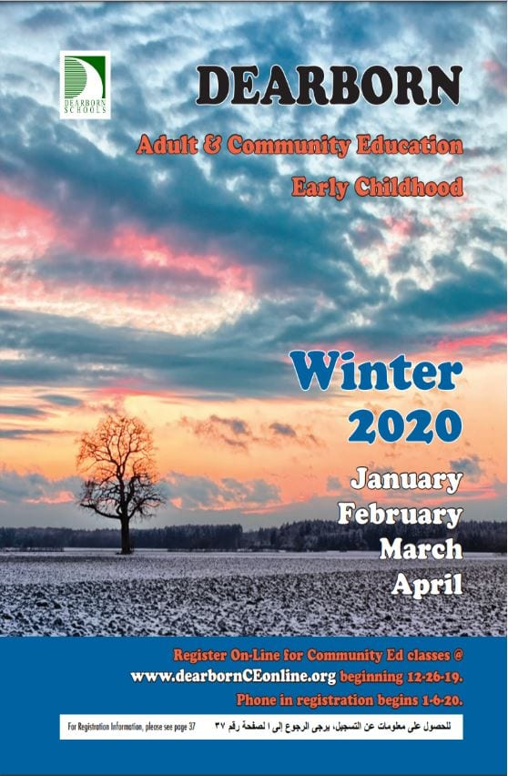Cover of Adult and Community Education, Early Childhood catalog for Winter 2020