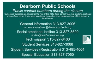 District publishes contact numbers during shutdown