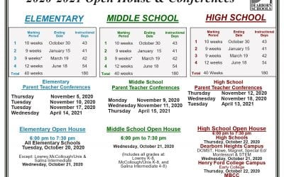 Open houses moved to October and online, high school changes to four marking periods