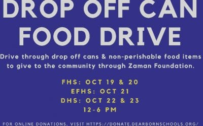 High schools hosting food drives Oct. 19 to 23