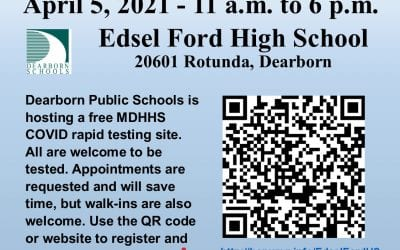Free COVID testing at Edsel Ford High on April 5